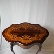 SOLD Attributed to R.J. Horner, New York Center Table with Elaborate Inlaid, 19th