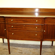Hepplewhite Elegant Mahogany Stencil Inlaid Sideboard Circa1920s'