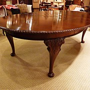 Rare Massive Queen Ann Dinning table , C1880