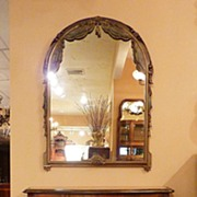 French provintial walnut commode with mirror, turn on C