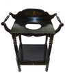 Hand painted 19th century English ebonized wash stand