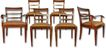 Set of 6, Baker Walnut Dining Chairs, c 1920
