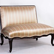 French Louis XV Bed End Seat, 19th C