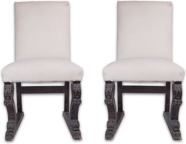 Pair of Greek Revival Side Chairs, 19th C