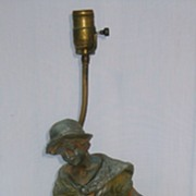 "Signed ""Moreau"" Sculpture Lamp, 19th C"