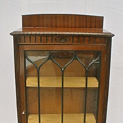 Queen Ann Mahogany Display Cabinet, Turn of the Century