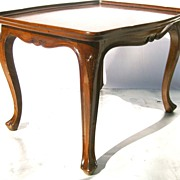 Pair of Louis XV Walnut Tables, Turn of Century