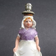 Boldoot Miniature Figural Dutch Girl Perfume Bottle Shaker