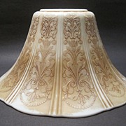 Depression Glass Lamp Shade American Sweetheart Monax