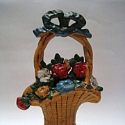 Flower Basket Cast Iron Doorstop