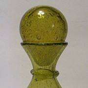 Biot Vintage French Art Glass Decanter Wine Bottle  Air Bubbles