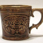 Rockingham Shaving Mug Philadelphia 1848