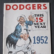1952 Brooklyn Dodgers Year Book