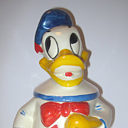 Donald Duck Cookie Jar American Bisque Signed Walt Disney