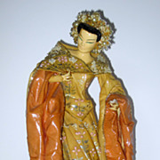 Kathi Urbach Asian Lady Fabric Dress Sculpture #2