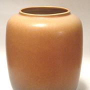 Roseville 1940's Rozane Art  Moderne  Tan Vase