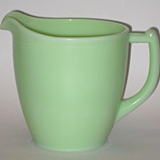 Vintage Jadite Juice Pitcher Sunflower Bottom