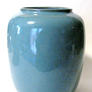 SOLD Roseville 1940's Rozane Art Moderne Blue Vase