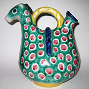 SALE PENDING Funky Mid Century Italian Pottery Pitcher