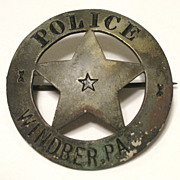 SOLD Windber Pa Antique Police Badge