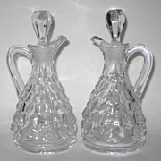 Fostoria American Pair Of Cruets