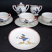 Vintage Donald Duck Childrens Partial Tea Set