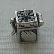 SALE Vintage C1960s Ornate Sterling Silver Prayer Box Charm-Opens