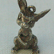 SALE Vintage Sterling 3-D Bunny Rabbit Charm For Bracelet
