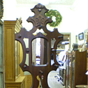 Antique Walnut Hall Tree and Umbrella Stand circa 1880's