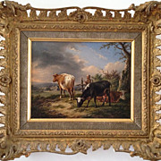 SOLD 19th C Belgian Oil on Canvas Painting by Charles Desan