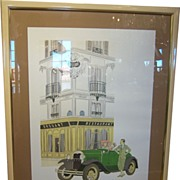 Philippe Noyer Signed Lithograph - Drouant Restaurant