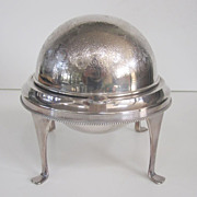 English Silver Plate Butter Dome