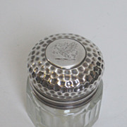 Sterling Silver Rouge Pot by Charles James Fox.