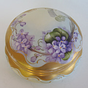 Beautiful & Rare Large Bavarian Floral Porcelain Box