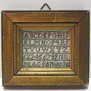SOLD Early 19th C. Miniature Sampler - MacParkinson