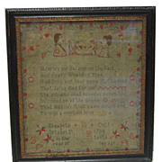 1784 English  Sampler - Signed Elizabeth Chitty