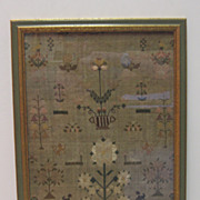 18th c. American Sampler by Sarah Howell - 1793