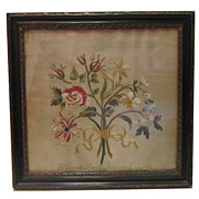 18th C. Silk Embroidered Sampler by Hannah Roach - 1791