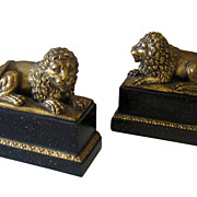 SOLD Pair of Borghese Lion Form Bookends