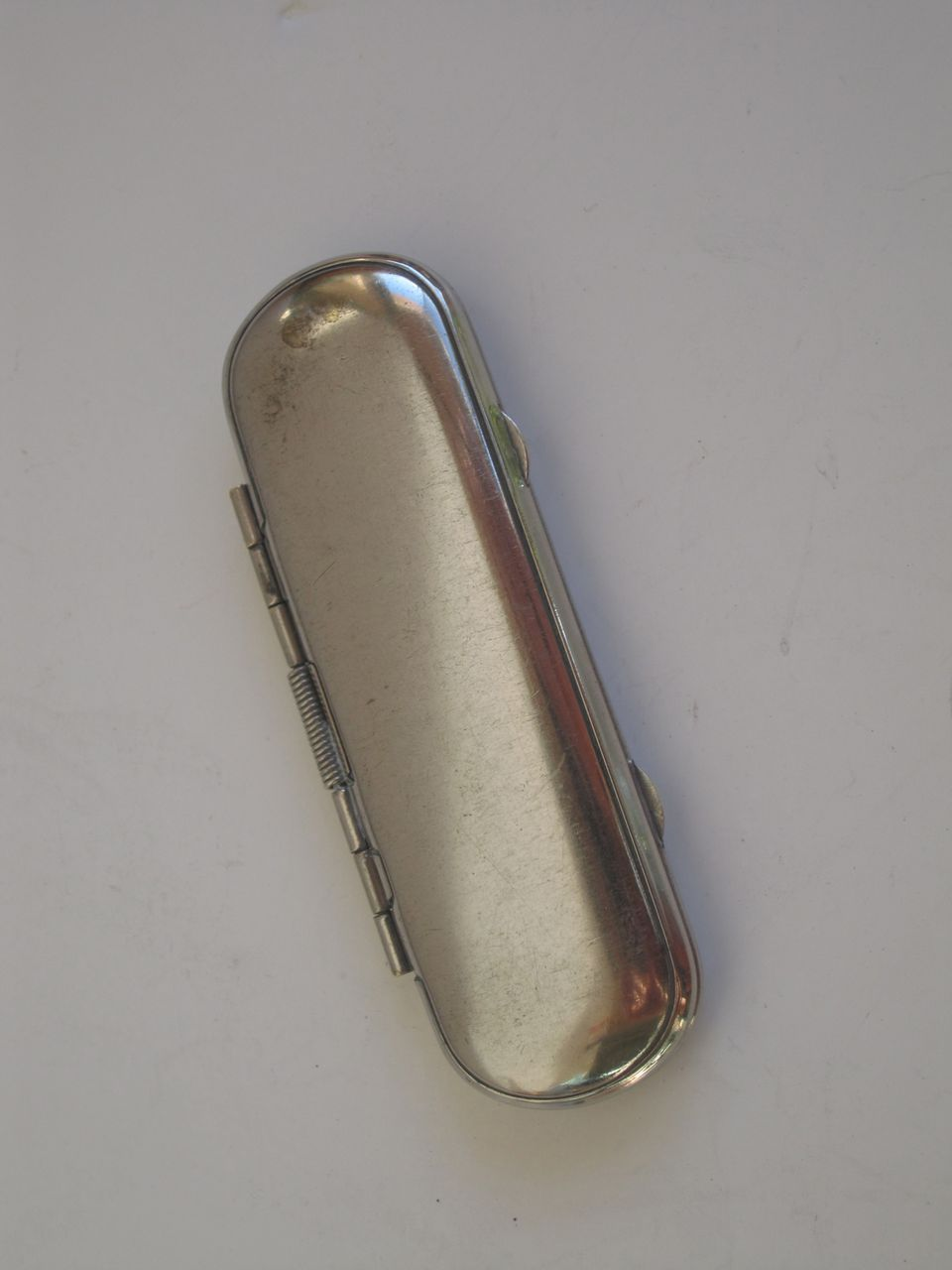 Silver Needle Case with Felt Lining