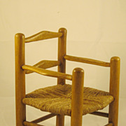 Vintage Miniature Rush Seat Chair