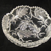 Beatuiful Crystal Bowl in Acorn Pattern