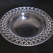 Beautiful Set of 4 Crystal Wide Rimmed Bowls