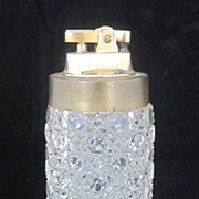 1960 Tall Crystal Table Lighter