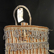 Antiquity Amazon Beaded Bag with Feathers