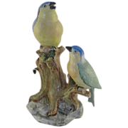 Large Continental Porcelain Blue Bird Figurine