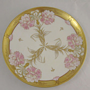 Hand Painted Art Nouveau Plate by Haviland, France
