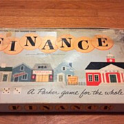 Vintage 1958 Finance board or table game. Parker Brothers business trading game for the whole 