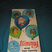 1964 original vintage Tammy and her family paper dolls with box.  Authorized edition. Ideal To