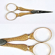 SOLD Antique French Empire Gold Scissors, 1809 � 1819